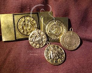 double matrice métal pièces médailles bronze
