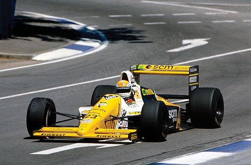 092-Pierluigi Martini, Team Minardi, F1 Australia 1989
