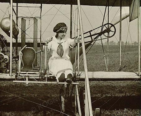 "030-Katherine Stinson Wright Flyer 18""x27"""