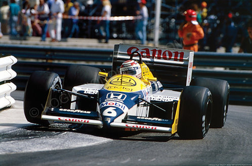 163-Nelson Piquet, Williams F1, Monaco 1987