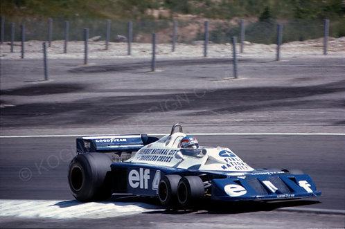 """070-Patrick Depailler, Tyrrell F1 France 1977 18""""x27"""""""