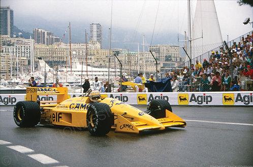 "035-Nelson Piquet Lotus 100T F1 Monaco 1988 18""x27"""