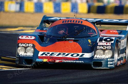 101- Brunswick-Rarouri-Pareja, Brun Porsche 962C, 24 Hrs Le Mans 1990