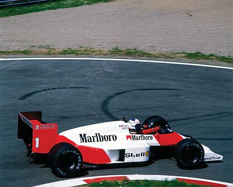 """028-Alain Prost McLaren F1 San Marino 1987 36""""x36"""""""