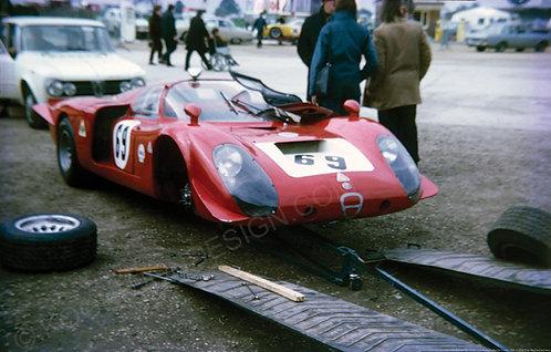 """037-Alfa romeo T33-2 Andre De Adamich Martini Trophy 1969 18""""x27"""""""