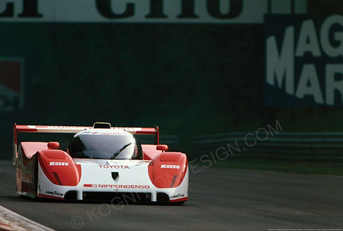"054-Hitoshi Ogawa, Toyota TS010, Monza 500Km Autodromo Italy 1992 18""x27"""