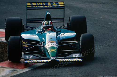 104-Emanuele Naspetti, March, F1 Belgium 1992