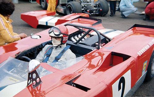 "042-Vic Elford, Lola T212, Silverstone 2.0 Liter Race 1971 18""x27"""