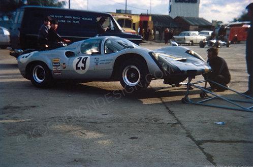 """059-Brostrom, Porsche 910, Martini Trophy, Silverstone 1969 18""""x27"""""""