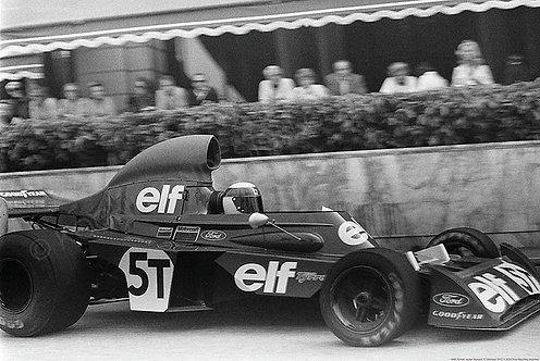 """046-Tyrrell, Jackie Stewart, F1 Monaco 1973 18""""x27"""""""