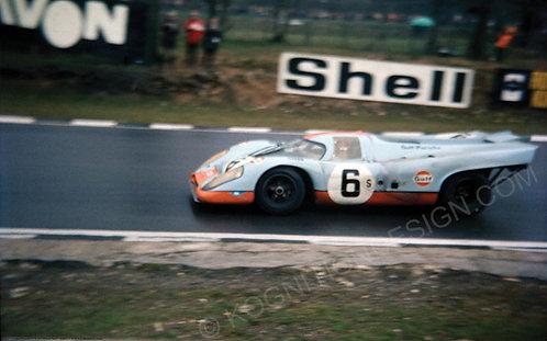 "006-Jo Siffert Porsche 917K Brands Hatch 1971  18""x27"""