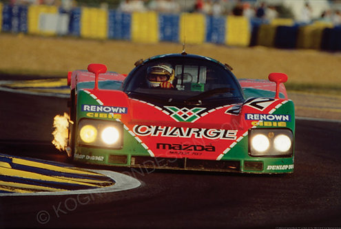 174-Bertrand Gachot,Mazda 787 Le Mans 24 Hrs 1990