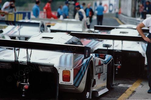 145-Martini Lancia Ferrari pits, 1000 Km. IMOLA Group C, 1984