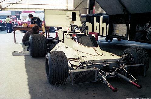 """060-Brabham BT-44, Pit Work, F1 Nurburgring 1974 18""""x27"""""""