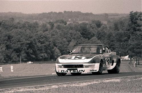 "073-Bob Sharp, Datsun 240Z, IMSA-GTU, Mid Ohio 100 Mile 1975 18""x27"""