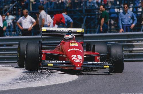 112-Gerhard Berger, Ferrari, F1 Monaco 1988