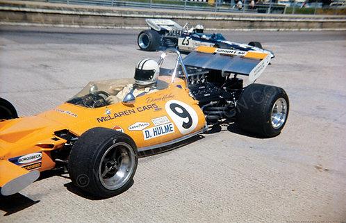 """055-Denny Hulme, Brabham BT24, Tasman Cup 1969 18""""x27"""