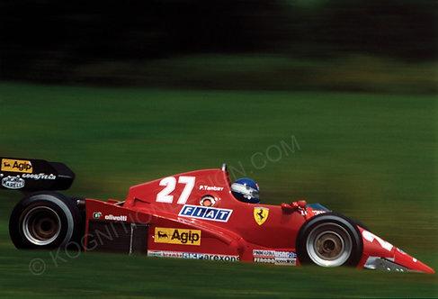 164-Patrick Tambay, Ferrari 126 C3, Testing at Osterreichring 1983