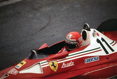 "053-Niki Lauda, Ferrari F1 Monaco 1977 18""x27"""
