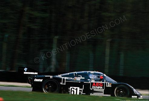 "077-Mauro Baldi, Sauber C9 Mercedes, Monza 1000 Km. 1988 18""x27"""