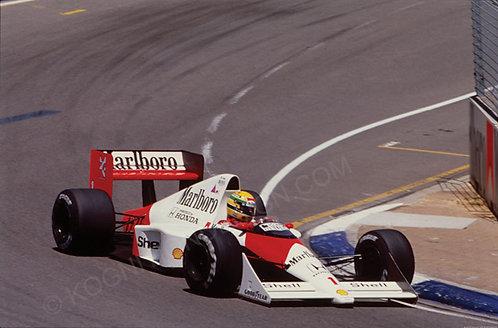 "061-Ayrton Senna, McLaren MP 4-5, F1 Australia 1989 18""x27"""