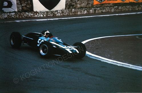 "051-Bob Bondurant Cooper T76 BMC, F3 Monaco 1965 18""x27"""