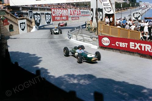 "033-Dan Gurney-Tony Maggs Brabham BT7 F1 Monco GP 1963 18""x27"""