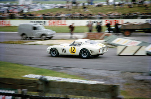 "012-Ferrari 250 GTO Mike Parkes Tourist Trophy Goodwood 1963  18""x27"""