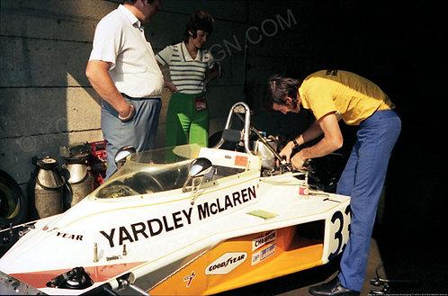 """048-McLaren M23, Mike Hailwood Nurburgring F1 1974 18""""x27"""""""