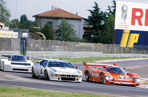 "043-Hans-Joachim Stuck , Porsche 956B IMOLA 1000Km 1984 18""x27"""