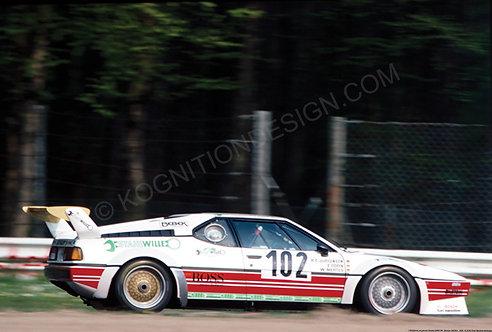 159-Dören,Jürgensen,Mertes BMW M1, Monza 1000Km. 1984