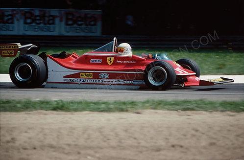 """068-Jody Scheckter, Ferrari F1 Italy 1979 18""""x27"""""""