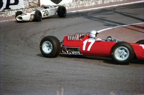 "019-Lorenzo Bandini- Richie Ginther Monaco F1 1965  18""x27"""