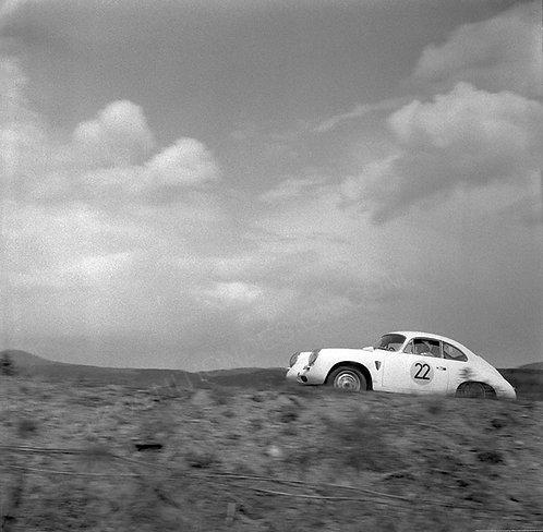 Silver Metal Print: Huhn-Schwartz, Porsche 356 B Nurburgring 1000Km 1963