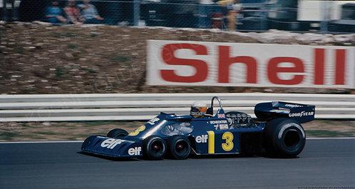 """011-F1 Jody Scheckter Tyrrell P34 Britain 1976  18""""x27"""""""