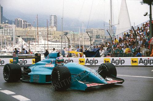 """013-Ivan Capelli March 881 Monaco F1 1988  18""""x27"""""""