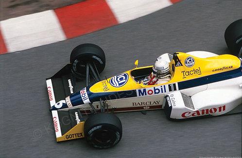 "075-Riccardo Patrese, Williams FW-12, F1 Monaco 1988 18""x27"""