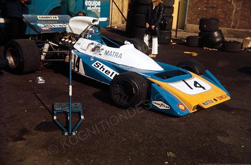"057-Chris Amon, Matra MS120B, F1 Silverstone Intl 1971 18""x27"""