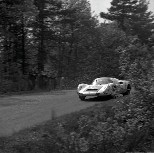 "062-Koch-Lins, Porsche 910, Nurburgring 1000 Km 1968 36""x36"""