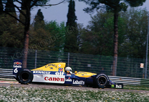"049-Keke Rosberg, Williams F1 San Marino 1985 18""x27"""