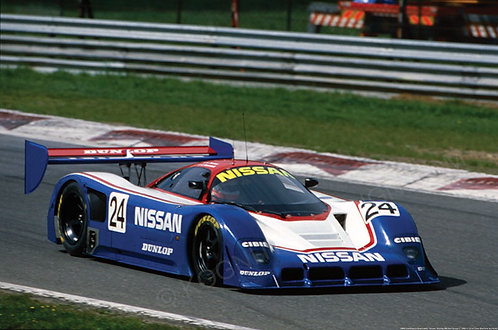 "064-Gianfranco Branacelli, Nissan R90 C , Monza 480 Km Group C 1990 18""x27"""