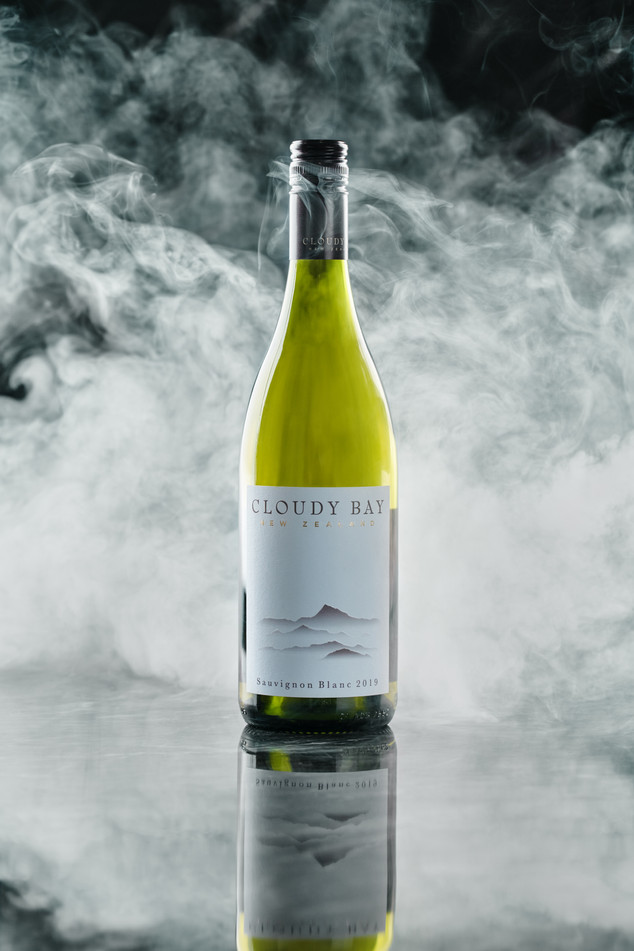 Cloudy Bay Wine Product Shoot
