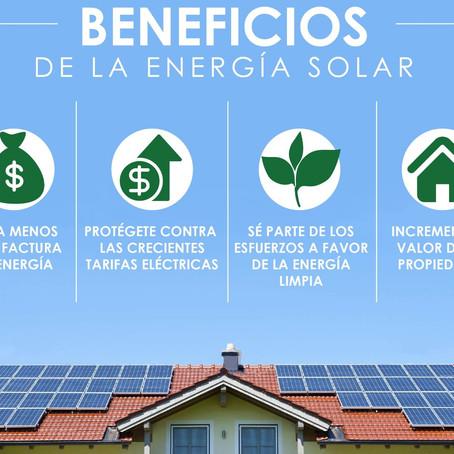 ¿Qué beneficios tiene la energía solar?