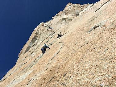 escalade à la face sud de l'Aiguille du Midi : voie Rébuffat