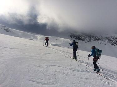 Ski de randonnée dans le massif du Mont-Blanc