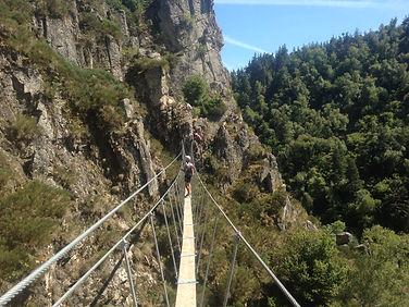 Via Ferrata dans la région de Chamonix