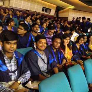 Students of our department attending the Annual Convocation 2016
