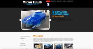 Bespoke eCommerce Website - Mirror Finish Bodyshop