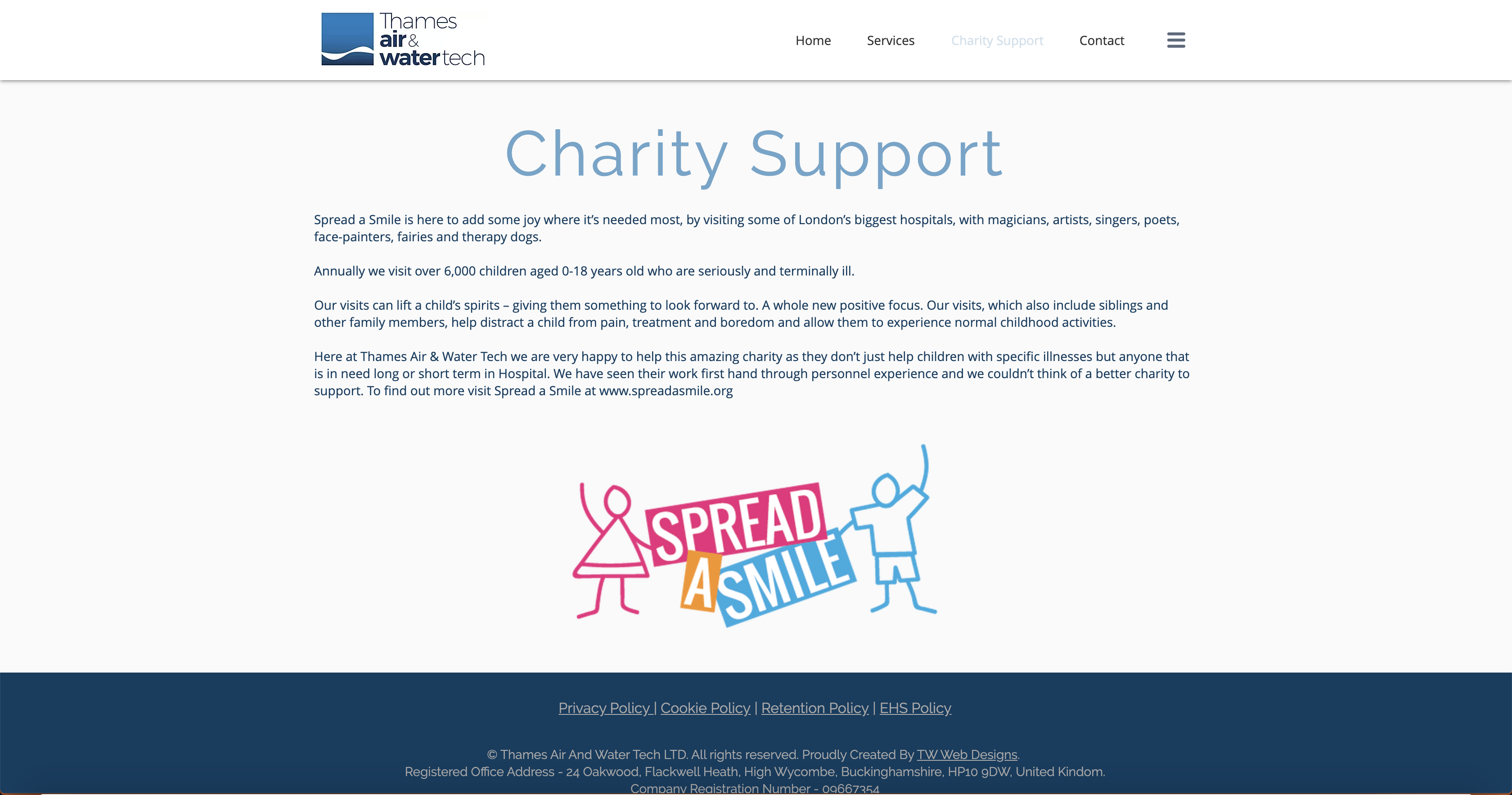 Thames Air and Water Tech | Charity Support