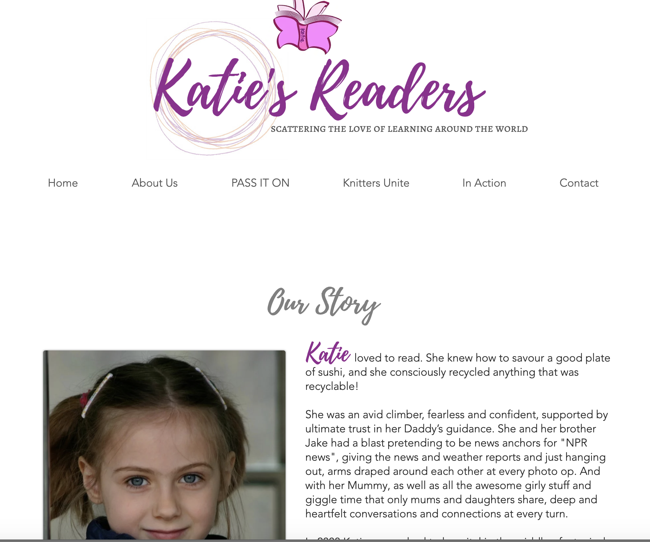 Katie About Us Page  | Katie Readers